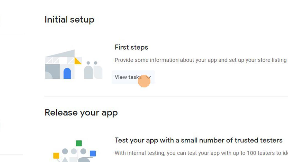 2. Click 'View tasks'.